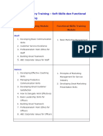 Matriks Training Marketing