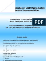 EUROCON 2005 - Interference Rejection in UWB Radio System Using Adaptive Transversal Filter