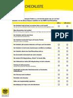 Checkliste Gebrautwagenkauf