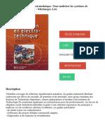 Guide du technicien en électrotechnique - Pour maîtriser les systèmes de conversion d'énergie PDF - Télécharger, Lire