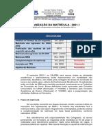 21.1 - ORGANIZAÇAO MATRÍCULA REMOTA