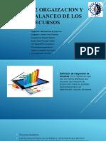 3.2 ORGAIZACION Y BALANCEO DE LOS RECURSOS