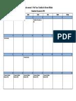 Agenda mensal fevereiro 2021