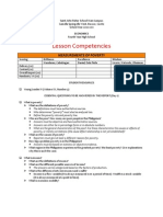 Econ - Lesson Competencies - Measurements of Poverty