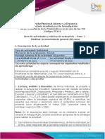 Guia de actividades y Rúbrica de evaluación - Paso 1 - Realizar reconocimiento general del curso