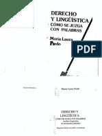 Pardo M. Laura_1996-Linguistica y Derecho. Como Se Juzga Con Palabras
