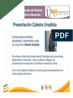 PresentaciónCatedraUnadista