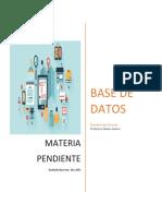 Evaluación Materia Pendiente Base de Datos