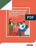 ORIENTACIONES AÑO 2021 COMISIONES CALENDARIZACION CARACTERISTICAS MATRICULA