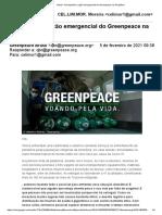 Acompanhe a ação emergencial do Greenpeace na Amazônia