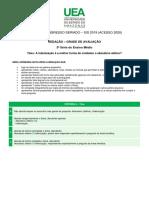 SIS III critérios redação 2019