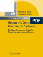 Geometric Control Of Mechanical Systems - Bullo & Lewis