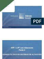 Uso de filtros en sistemas de altavoces
