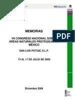 Vii Congreso Nacional Sobre Áreas Naturales Protegidas de México