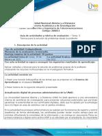 Guia de actividades y Rúbrica de evaluación - Unidad 3 - Tarea 5 - Técnica para la solución de problemas desde la profesión