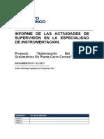INFORME SEMANAL ELECTRICIDAD_INSTRUMENTACION 3er semana FEBRERO