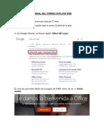 MANUAL DEL CORREO OUTLOOK WEB