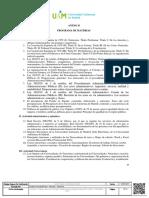 Anexo II. Programa de Materias