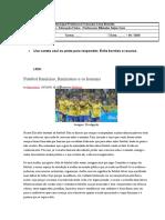 Avaliação de Educação Física 8E e 8F. O patriarcalismo no futebol brasileiro