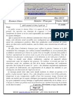 B3_examen et corrige francais 3ASM 2013 T3