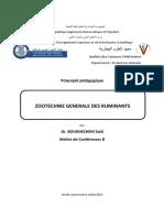 Zootechnie Ruminants
