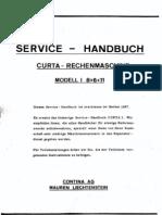 Curta I Service-Handbuch
