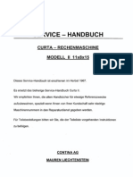 Curta II Service-Handbuch