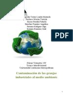 Contaminación de Las Granjas Industriales Al Medio Ambiente. 1 Docx FINAL