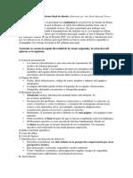 Especificaciones del informe final de diseño