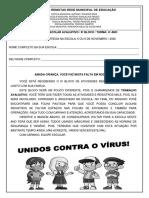 ATIVIDADES REMOTAS - 4º ANO