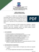 EDITAL MONITORIA CCBS 2011.1