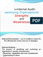 Internal audit report