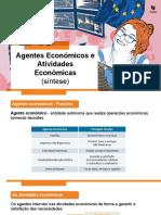 Agentes Económicos e Atividades Económicas (Síntese)