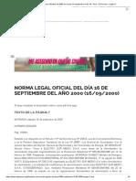 Normas Legales Oficiales Del 2000 en El Mes de Septiembre El Dia 16 - Perú - El Peruano - Pagina 7