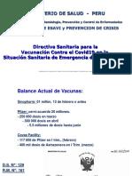 Directiva Sanitaria Para La Vacunación