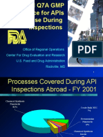 ICH Q7A and Its Use During Inspections Without Notes