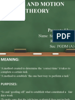 Time and motion theory