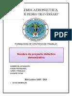 1. Formato del PDD
