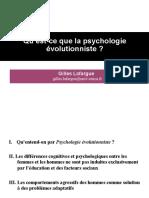 Psychologie Evolutionniste