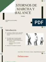 Trastornos de la marcha y balance