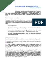 Allocution Sur La Vie Maritale Du Prophete (SAWS)