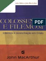 Série Estudos Bíblicos John Macarthur Colos e Filemon