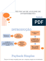 (Aula 05) Técnicas de Análise de Investimento