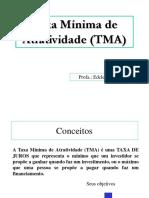 (Aula 04) Taxa Mínima de Atratividade