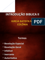 INTRODUÇÃO BIBLICA II