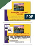 Advanced Hibernate Features