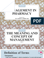 Management in Pharmacy