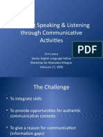 Teaching Speaking Listening