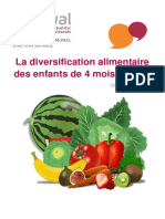 diversification alimentaire (12 pages)