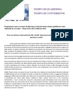 editoriale di  donsandro-avvenire-romasette-per la  quaresima